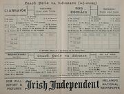 All Ireland Senior Football Final Replay, Kerry v Roscommon, 27.10.1946, 10.27.1946, 27th October 1946, Kerry 2-08 Roscommon 0-10, 27101946AISFCF, Kerry Football Team, D O'Keeffe, D Lyne, Lt J Keohane, P B Brosnan, J Lyne, W Casey, E Walsh, Teddy O'Connor, P Kennedy, J Falvey, Tom O'Connor, B Garvey, F O'Keeffe, P Burke, D Kavanagh, A Cremin, B Kelliher, W O'Donnell, G Teehan, T O'Sullivan, W Finucane, .Roscommon Football Team, W Jackson, G Dolan, J Casserley, O Hoare, B Lynch, W Carlos ,T Collins, Ph Murray, E Boland, F Kinlough, J Murray, D Keenan, J McQuillan, J J Fallen, J J Nerney, B Beirne, J Quinn, Dr H Gibbons, M Heavey, J P O'Callaghan, W Gilmartin, T Lynch,  .
