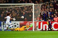 Goal Lionel MESSI - 10.12.2014 - Barcelone / Paris Saint Germain - Champions League<br />Photo : Dave Winter / Icon Sport