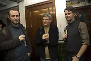 John Robinson, Chris Kul-Want and Jeremy Millar, ANRI SALA A Second Look, Hauser and Wirth. London. 8 November 2007.<br />-DO NOT ARCHIVE-© Copyright Photograph by Dafydd Jones. 248 Clapham Rd. London SW9 0PZ. Tel 0207 820 0771. www.dafjones.com.