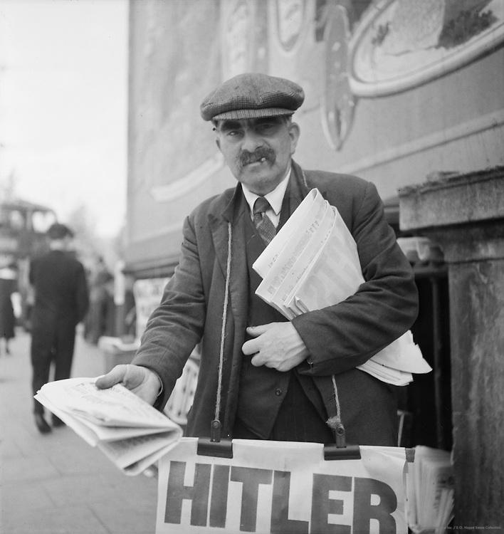 Newspaper Seller, London, 1937