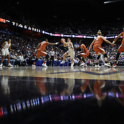UNCASVILLE, CONNECTICUT- DECEMBER 4: Kia Nurse #11 of the Connecticut Huskies drives to the basket during the UConn Huskies Vs Texas Longhorns, NCAA Women's Basketball game in the Jimmy V Classic on December 4th, 2016 at the Mohegan Sun Arena, Uncasville, Connecticut. (Photo by Tim Clayton/Corbis via Getty Images)