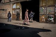 Minors migrants in Belgrade makeshift camp. Belgrade, Serbia. March 21st, 2017. Federico Scoppa