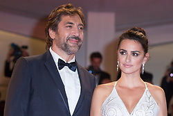 Director Fernando Leon de Aranoa , Spanish actor Javier Bardem and Spanish actress Penelope Cruz attend the premiere of the movie 'Loving Pablo' presented out of competition at the 74th Venice Film Festival on September 6, 2017 at Venice Lido. 06 Sep 2017 Pictured: Penelope Cruz,Javier Bardem. Photo credit: Fernanda Bareggi / MEGA TheMegaAgency.com +1 888 505 6342