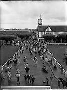 07/08/1962 <br /> 08/07/1962 <br /> 07 August 1962 <br /> Dublin Horse show at the RDS, Ballsbridge, Dublin, Tuesday. A general view of the scene at the RDS as riders and horses loosen up before appearances.