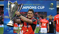 Rugby Union - 2017 European Rugby Champions Cup Final - Clermont Auvergne vs. Saracens<br /> <br /> Brad Brarritt of Saracens celebrates after winning the Champions Cup Final at Murrayfield.<br /> <br /> COLORSPORT/LYNNE CAMERON