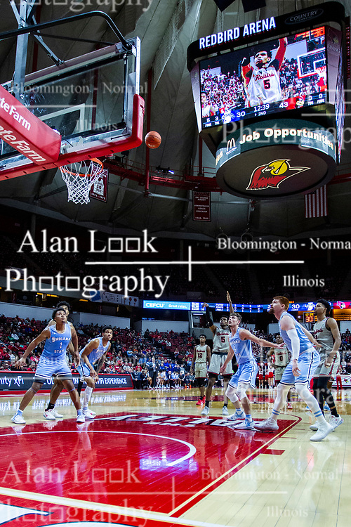 NORMAL, IL - February 08: Keith Fisher III shoots a free throw during a college basketball game between the ISU Redbirds and the Indiana State Sycamores on February 08 2020 at Redbird Arena in Normal, IL. (Photo by Alan Look)