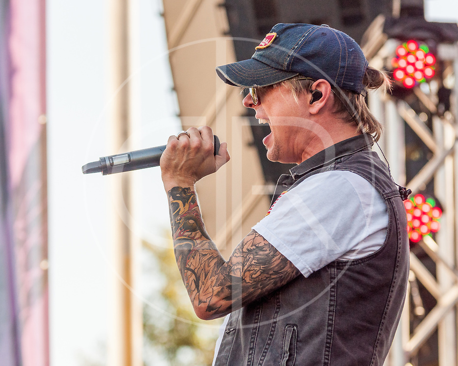 BALTIMORE United States - September 27, 2014: John Allen of the Charm City Devils, performs at The Shindig, in Baltimore's historic Carroll Park