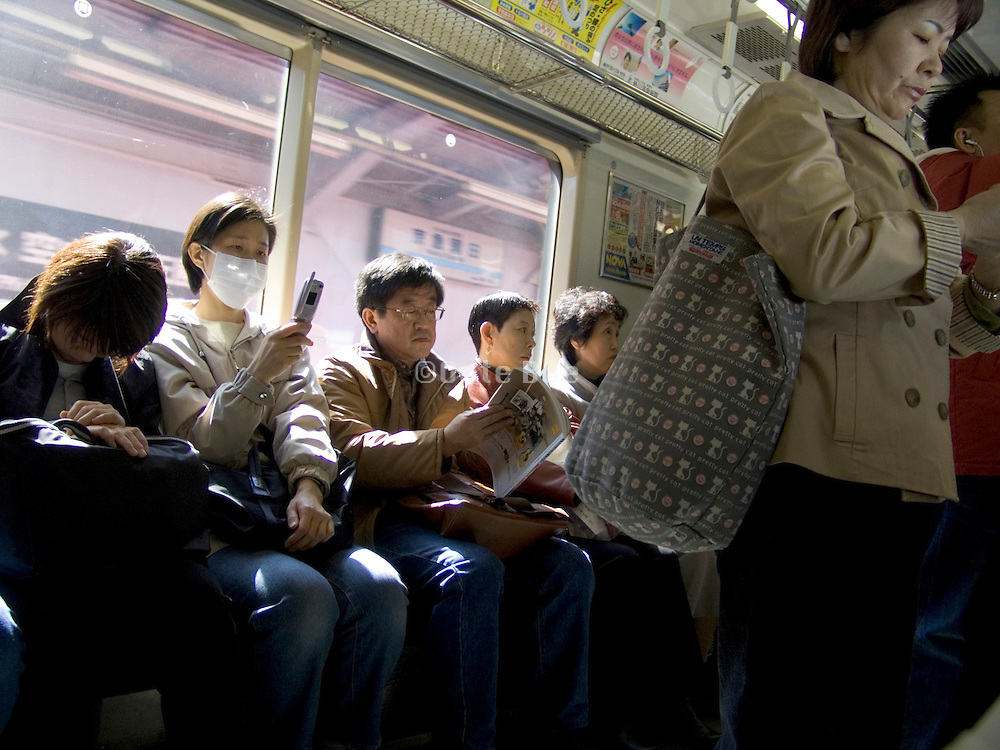 commuters on there way to work Tokyo