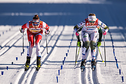 February 24, 2019 - Seefeld In Tirol, AUSTRIA - 190224 Maiken Caspersen Falla of Norway and Maja Dahlqvist of Sweden competes in womenÃ•s team sprint semi final during the FIS Nordic World Ski Championships on February 24, 2019 in Seefeld in Tirol..Photo: Vegard Wivestad GrÂ¿tt / BILDBYRN / kod VG / 170295 (Credit Image: © Vegard Wivestad Gr¯Tt/Bildbyran via ZUMA Press)