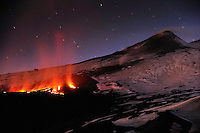 """Lava flow in the """" Vallé del Bove """" Eastern part of the Etna Volcano, Sicily, Italy"""