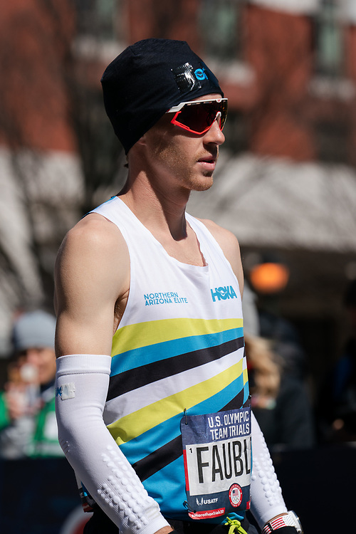 Scott Fauble prior to the 2020 U.S. Olympic marathon trials in Atlanta on Saturday, Feb. 20, 2020. Photo by Kevin D. Liles for The New York Times