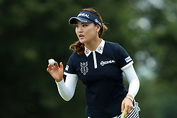 June 17, 2018 - Belmont, Michigan, United States - So Yeon Ryu of Korea acknowledges the crowd on the 9th green during the final round of the Meijer LPGA Classic golf tournament at Blythefield Country Club in Belmont, MI, USA  Sunday, June 17, 2018. (Credit Image: © Jorge Lemus/NurPhoto via ZUMA Press)