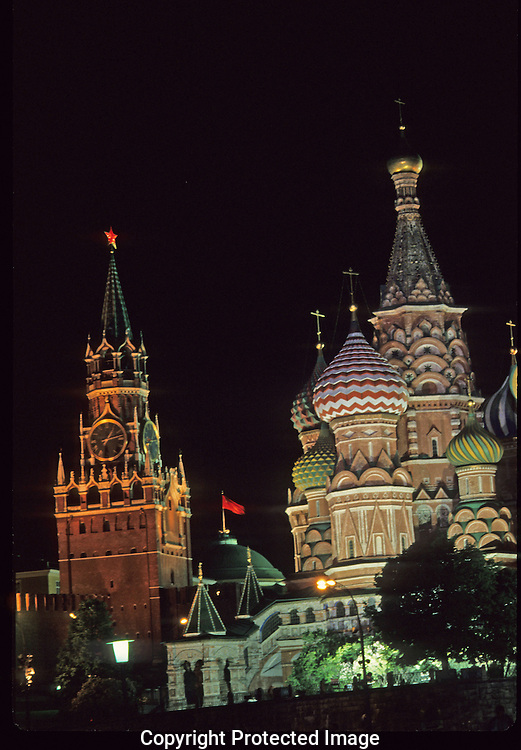 Red Square in Moscow, USSR in 1988..Photograph by Dennis Brack bb33