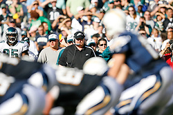 Philadelphia Eagles Head Coach Andy Reid in the bench area during the NFL game between the Philadelphia Eagles and the San Diego Chargers on November 15th 2009. At Qualcomm Stadium in San Diego, California. (Photo By Brian Garfinkel)
