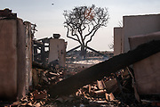 MALIBU, CA - Structures damaged by the Woolsey Fire in Malibu, California lie in ruins, November 11, 2018.