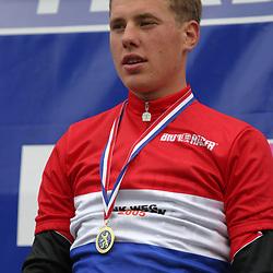 Sportfoto archief 2000-2005<br />2005 <br /> In Rotterdam wordtr Sebastian Langeveld Nederlands kampioen bij de beloften voor Johnny Hoogerland en Reinier Honig