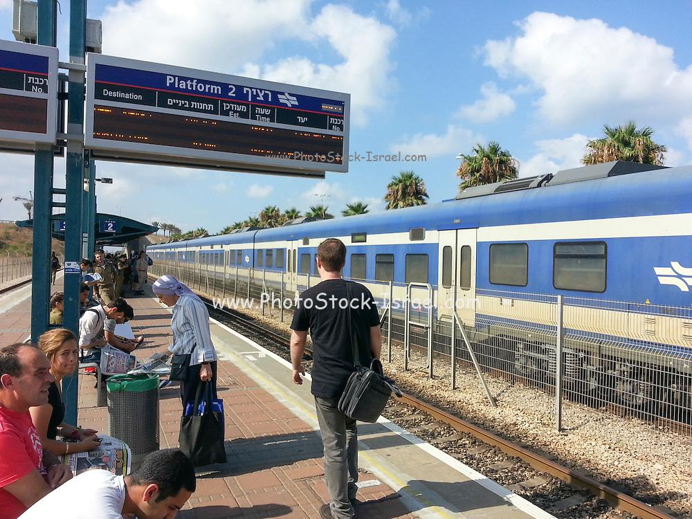 Haifa, Hof Hacarmel train Station