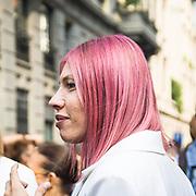 Il Primo giorno della settimana della moda a Milano<br /> <br /> The open day of the Milan fashion week 2012 edition