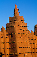Mali, Djenné, Patrimoine mondial de l'UNESCO, Grande mosquée, plus grande mosquée en terre du monde// Mali, Djenne, Unesco World Heritage, the biggest mud mosque of the world