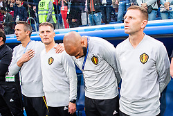 July 10, 2018 - St Petersburg, Russia - 180710 Assisting coach Thierry Henry (bows) of Belgium prior to the FIFA World Cup semi final match between France and Belgium on July 10, 2018 in ST Petersburg..Photo: Petter Arvidson / BILDBYRN / kod PA / 92084 (Credit Image: © Petter Arvidson/Bildbyran via ZUMA Press)