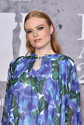 February 20, 2019 - London, United Kingdom of Great Britain and Northern Ireland - Freya Ridings arriving at The BRIT Awards 2019 at The O2 Arena on February 20, 2019 in London, England  (Credit Image: © Famous/Ace Pictures via ZUMA Press)