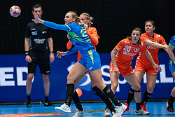 Barbara Lazovic of Slovenia in action during the Women's friendly match between Netherlands and Slovenia at De Maaspoort on march 19, 2021 in Den Bosch, Netherlands (Photo by RHF Agency/Ronald Hoogendoorn)