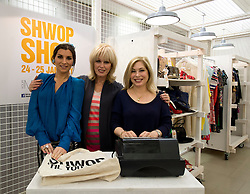 © Licensed to London News Pictures. 24/01/2013. London, United Kingdom.  (LtoR) Gracie Woodwood, Joanna Lumley and Brix Smith-Start open the Marks & Spencer and Oxfam two day pop-up charity shop, filled with items donated by celebrities, including Alexa Chung, Daisy Lowe, Pixie Lott, Plan B, Jo Wood, Zandra Rhodes, Caroline Flack, Tali Lennox, Erin O'Connor, Joanne Froggatt, Ellie Goulding, Gemma Cairney and Susie Lau. The shop also features a unique collection of vintage M&S items from its first-ever St Michael collection in 1928 to present day. The shop is staffed by celebrities, including Joanna Lumley, Grace Woodward and Brix Smith-Start, and items can be purchased by swapping customers' own unwanted clothes.. Photo credit : Justin Setterfield/LNP.