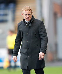 Falkirk's manager Gary Holt.<br /> Falkirk 2 v 0 Dundee, Scottish Championship game at The Falkirk Stadium.<br /> © Michael Schofield.