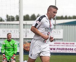 Falkirk's John Baird after Falkirk's Myles Hippolyte scored their second goal. Falkirk 6 v 1 Elgin City, Irn-Bru Challenge Cup Third Round, played 3/9/2016 at The Falkirk Stadium .