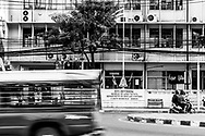 Traffic passes by the STI Division, Bureau of AIDS/TB/STIs, Department of Disease Control, in Bangkok, Thailand. (November 18, 2011)
