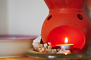 Aromatic candles in a massage clinic