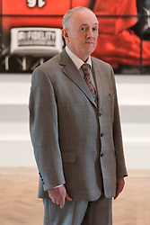 © Licensed to London News Pictures. 07/06/2016. Artist GILBERT PROUSCH better know as GILBERT AND GEORGE unveil their new work titled Beard Aware for the Royal Academy Summer Exhibition.  The Summer Exhibition marking its 248th year, is the world's largest open submission exhibition, held every year without interruption since 1769, and continues to play a significant part in raising funds to finance the current students of the RA Schools.  London, UK. Photo credit: Ray Tang/LNP