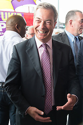 © Licensed to London News Pictures. 02/06/2017. London, UK. <br /> Former UKIP leader Nigel Farage meets local people in Dagenham Heathway during a general election campaign. Photo credit: Ray Tang/LNP