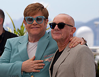 Sir Elton John and Bernie Taupin at Rocketman film photo call at the 72nd Cannes Film Festival, Thursday 16th May 2019, Cannes, France. Photo credit: Doreen Kennedy