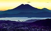 San Salvador, El Salvador, Boqueron Volcano Valley, Valley Of The Hammocks, Double Cratered San Vincente Volcano, Also Known As Chichontepec, Second Highest Volcano In El Salvador, Downtown City Lights, Lake Ilopango, Sunrise