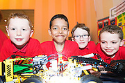 Padraic Ryan, Nikhil Joseph, Nathan Kilmartin and Brian Morgan from Gardenfields NS  at the Galway Education centre's Junior First Lego League at the Radisson Blu hotel. Photo:Andrew Downes, xposure.