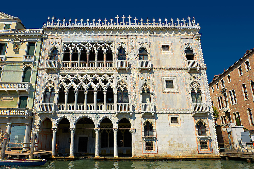 Palazzo Ca' d'Oro built in on the Grand Canal, Venice .<br /> <br /> Visit our ITALY HISTORIC PLACES PHOTO COLLECTION for more   photos of Italy to download or buy as prints https://funkystock.photoshelter.com/gallery-collection/2b-Pictures-Images-of-Italy-Photos-of-Italian-Historic-Landmark-Sites/C0000qxA2zGFjd_k