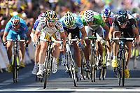Sykkel<br /> Tour de France 2010<br /> 08.07.2010<br /> Foto: PhotoNews/Digitalsport<br /> NORWAY ONLY<br /> <br /> MARK CAVENDISH - EDVALD BOASSON HAGEN<br /> <br /> ETAPE 5 : EPERNAY - MONTARGIS
