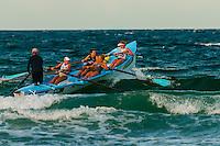 Female surf life savers, Manly Beach, Sydney, New South Wales, Australia
