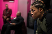 LAS VEGAS, NV - JULY 9:  Julianna Pena waits in the locker room before UFC 200 at T-Mobile Arena on July 9, 2016 in Las Vegas, Nevada. (Photo by Cooper Neill/Zuffa LLC/Zuffa LLC via Getty Images) *** Local Caption *** Julianna Pena