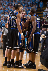 06 February 2008: Duke Blue Devils guard Gerald Henderson (15) and guard DeMarcus Nelson (21) during a 89-78 win over the North Carolina Tar Heels at the Dean Smith Center in Chapel Hill, NC.