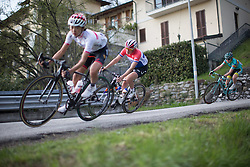 Lucinda Brand (Liv-Plantur Cycling Team) rides a fast corner in the third, short lap of the Trofeo Alfredo Binda - a 123.3km road race from Gavirate to Cittiglio on March 20, 2016 in Varese, Italy.