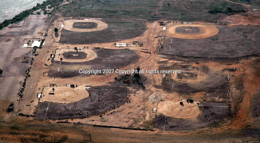 Aerial view of Wildfire's Destruction on the California landscapes.