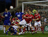 Photo: Richard Lane/Richard Lane Photography. Nottingham Forest v Birmingham City. Coca Cola Championship. 08/11/2008. Chris Cohen (C) clears in a crowded penalty area