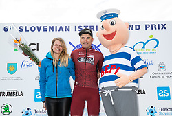Felix Ritzinger of Maloja Pushbikers at Trophy ceremony during the cycling race 6. VN Slovenske Istre / 6th Slovenian Istra Grand Prix, on February 24, 2019 in Izola/ Isola, Slovenia. Photo by Vid Ponikvar / Sportida
