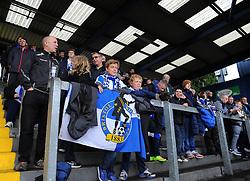 Bristol Rovers' Fans- Photo mandatory by-line: Nizaam Jones /JMP - Mobile: 07966 386802 - 03/05/2015 - SPORT - Football - Bristol - Memorial Stadium - Bristol Rovers v Forest Green Rovers - Vanarama Football Conference.