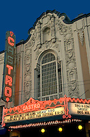 The Castro Theatre is a San Francisco movie palace which became San Francisco Historic Landmark #100 in September 1976. The cinema was built in 1922 with a Spanish Colonial Baroque façade that pays homage in its arched central window surmounted by a scrolling pediment framing a niche?to the basilica of Mission Dolores nearby. Its designer Timothy L. Pflueger, also designed Oakland's Paramount Theater and other movie theaters in California in that period.