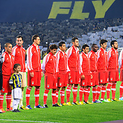 Benfica's players during their UEFA Europa League Semi Final first match Fenerbahce between Benfica at Sukru Saracaoglu stadium in Istanbul Turkey on Thursday 25 April 2013. Photo by Aykut AKICI/TURKPIX