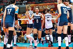 16-10-2018 JPN: World Championship Volleyball Women day 17, Nagoya<br /> Netherlands - China 1-3 / Chunlei Zeng #8 of China