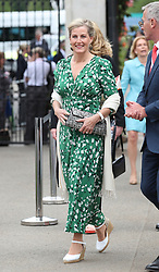 The Countess of Wessex arrives at the RHS Chelsea Flower Show at the Royal Hospital Chelsea, London.